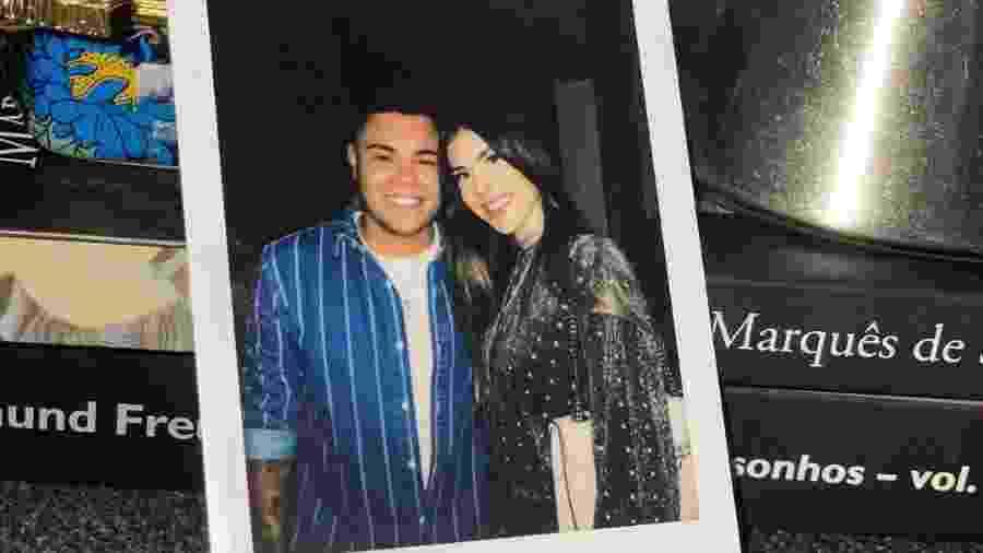 Felipe Araújo e a namorada, Estella Defant - Reprodução/Instagram @felipearaujocantor
