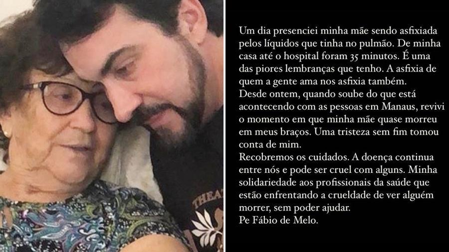 Padre Fábio de Melo relembrou momento de asfixia da mãe - Reprodução/Instagram