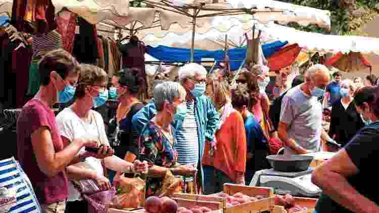 French Market em Florac, comuna francesa na região administrativa de Occitânia - Legna69/Getty Images - Legna69/Getty Images