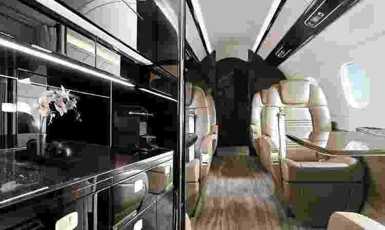 Interior do Embraer Preator 600  - Divulgação/Flapper - Divulgação/Flapper