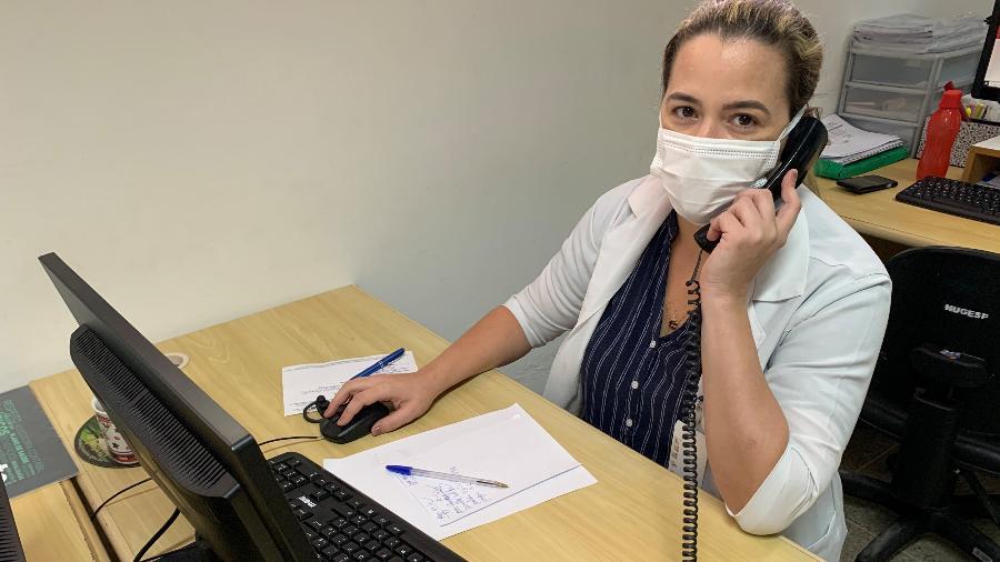 A pediatra Maria Carolina Parente fala com seis a dez famílias por dia para passar informações de pessoas internadoas em hospital de Fortaleza (CE) - Arquivo pessoal
