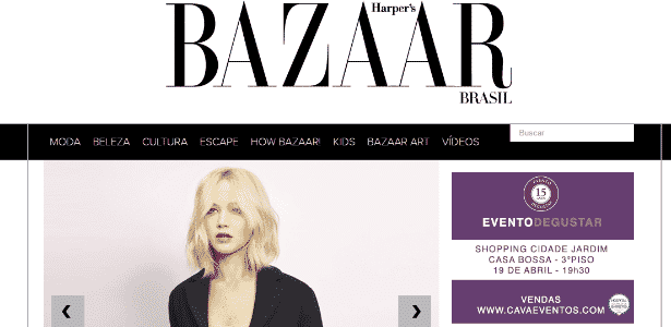 Harper´s Bazaar e Site RG estreiam como parceiros no UOL - Reprodução/Print