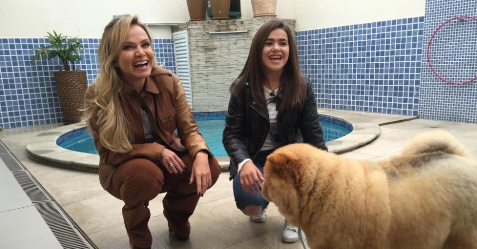 Eliana visita Maisa para seu programa que irá ao ar neste domingo (19) no SBT