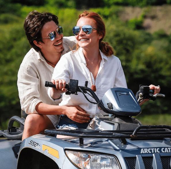 Lindsay Lohan e o noivo, o herdeiro bilionário russo Egor Tarabasov