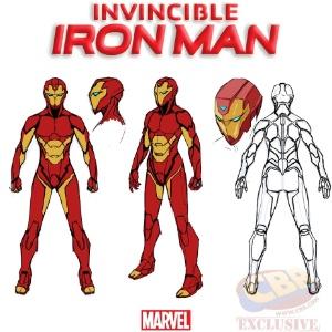 Nova armadura do Homem de Ferro mulher, que será usada por Riri Wiliams, divulgada com exclusividade pelo site CBR, e desenhada por Stefano Caselli - Divulgação