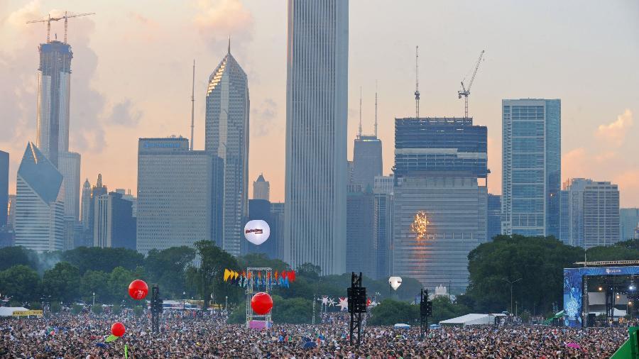 Público durante o festival Lollapalooza, no Grant Park, em Chicago  - Divulgação