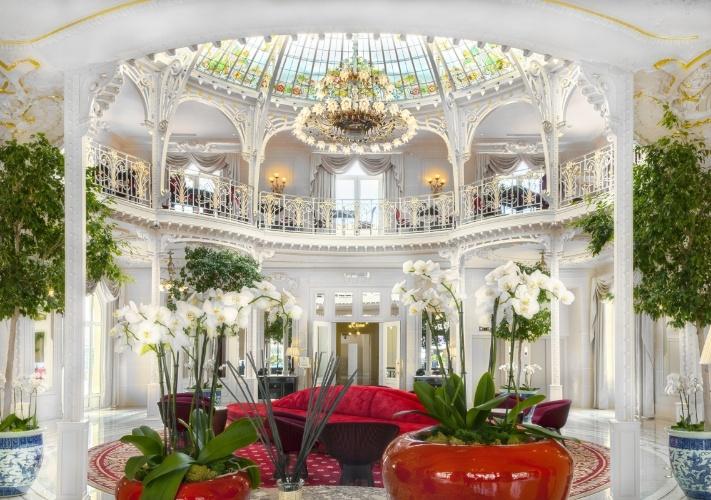 Lobby do Hôtel Hermitage, em Mônaco