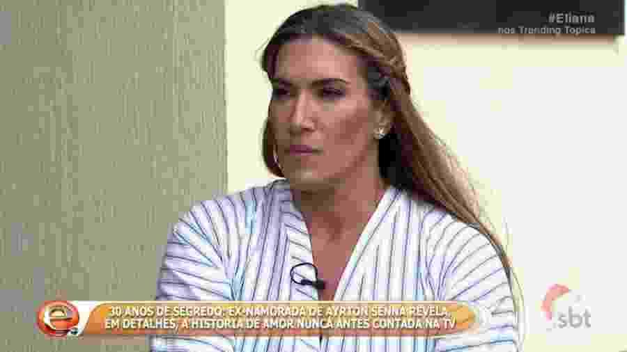 Adriane Yamin durante entrevista a Eliana (SBT) em dezembro de 2016 - Reprodução/SBT