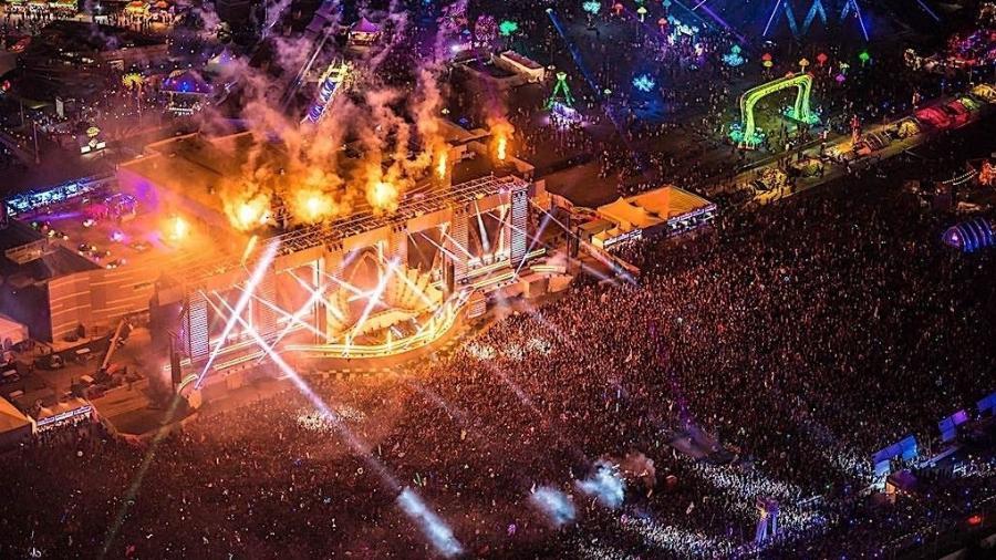 O festival EDC ocorre há nove anos em Las Vegas, nos Estados Unidos - Divulgação