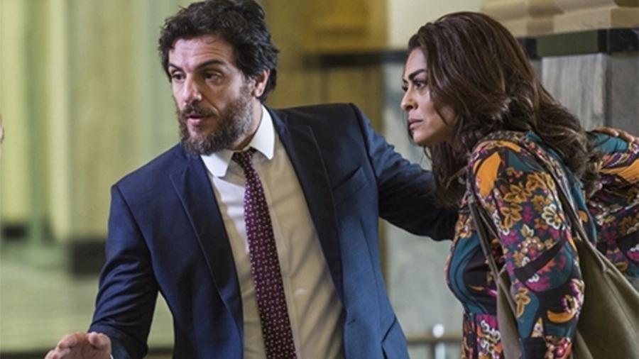 """Caio (Rodrigo Lombardi) e Bibi (Juliana Paes) discutem em """"A Força do Querer"""" - Mauricio Fidalgo/TV Globo"""