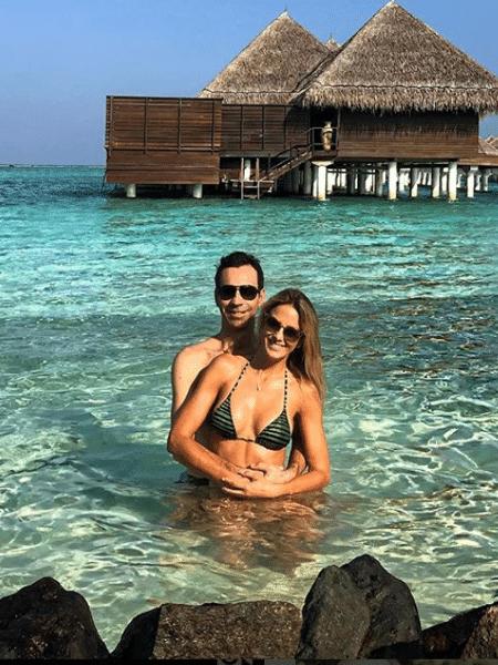 Cesar Tralli e Ticiane Pinheiro nas Maldivas - Reprodução/Instagram/ticipinheiro