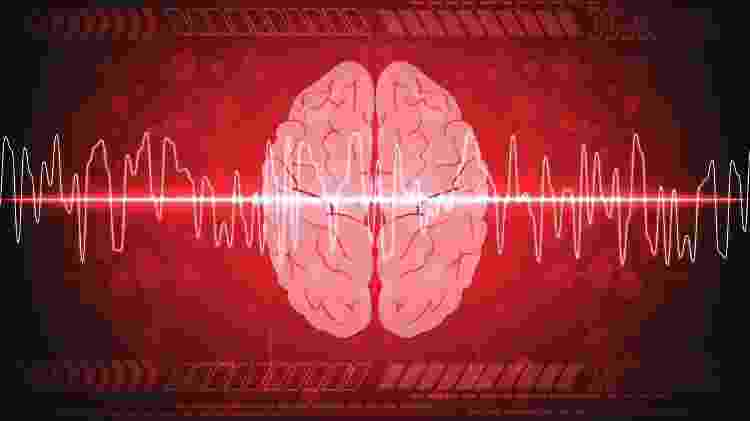 avc, cérebro, ilustração - iStock - iStock