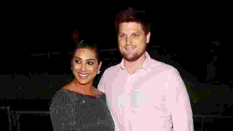 A ex-BBB Amanda Djehdian com o marido Mateus Hoffmann - Manuela Scarpa/Brazil News