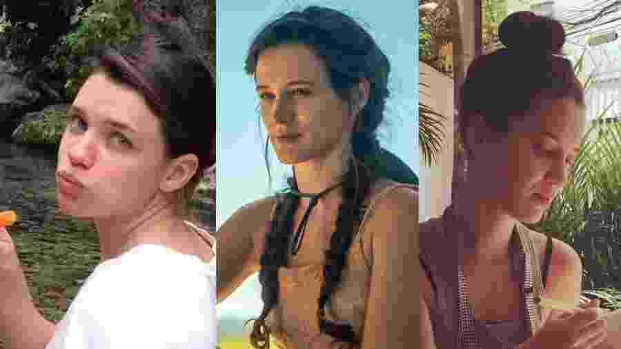 Bruna Linzmeyer, Bianca Bin e Nathalia Dill têm estilo de vida alternativo fora da TV - Colagem/UOL