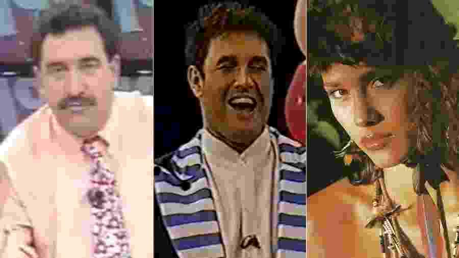 Ratinho, Sérgio Mallandro e Índia Aigo foram estrelas da TV Gazeta antes da chegada da Igreja Universal - Montagem/UOL/Reprodução/TV Gazeta/Facebook