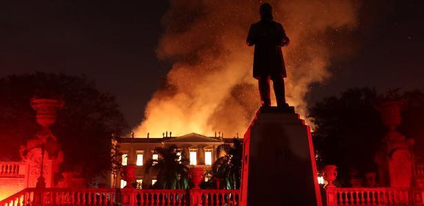3.set.2018 - Incêndio destrói o Museu Nacional do Rio de Janeiro
