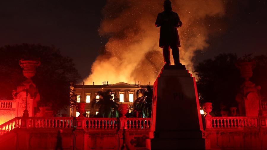 Incêndio destrói o Museu Nacional, no Rio de Janeiro - REUTERS/Ricardo Moraes