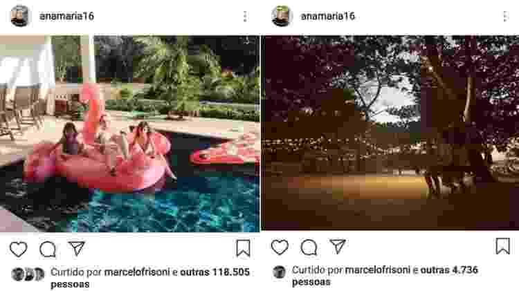 As fotos das férias de Ana Maria Braga também foram curtidas por Marcelo Frisoni - Reprodução/Instagram - Reprodução/Instagram