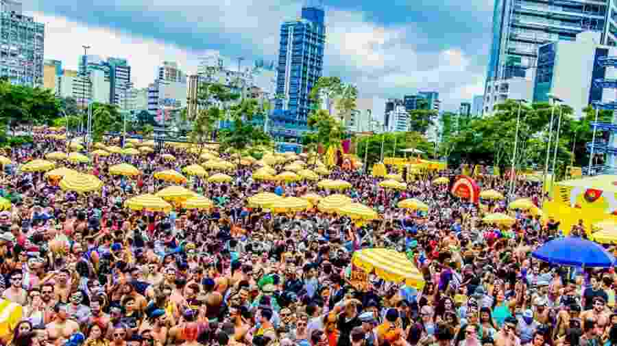 Em 2018, o bloco reuniu mais de 300 mil pessoas na região do Largo da Batata - Divulgação