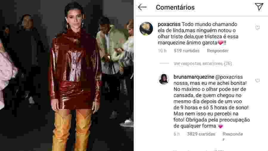 Bruna Marquezine rebate comentário de seguidor - Reprodução/Instagram