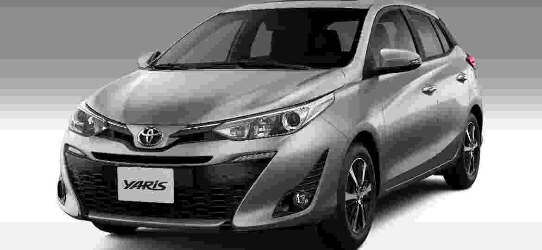Yaris foi lançado no Brasil em junho de 2018 como alternativa mais sofisticada ao Toyota Etios - Divulgação