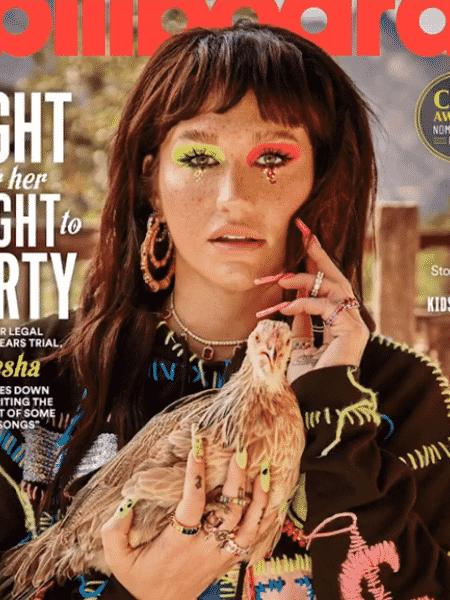 Kesha na capa da revista Billboard - Reprodução