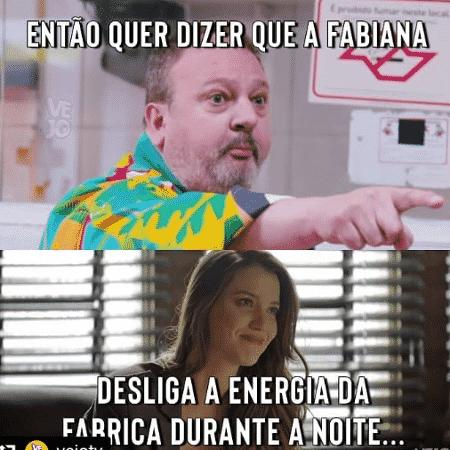 Meme de Erick Jacquin zoando a personagem de Nathalia Dill em A Dona do Pedaço - Reprodução/Instagram