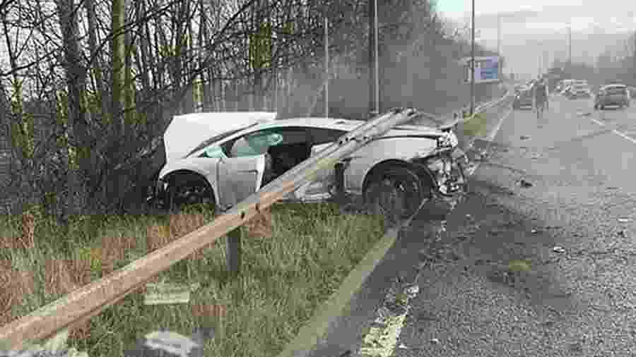 Lamborghini Gallardo Superleggera destruída por Sergio Romero - Reprodução