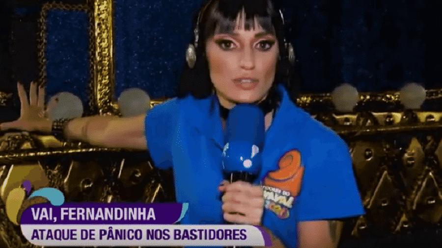 Repórter da RedeTV! revela ataque de pânico nos bastidores da cobertura do Carnaval  - Reprodução/RedeTV!