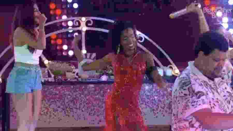 BBB 20: Thelma sambando em sua festa do líder - Reprodução/Globoplay