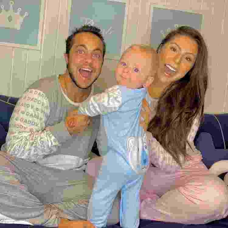 Thammy e Andressa Miranda com o filho, Bento; ator e vereador protagonizou uma campanha de Dia dos Pais em 2020 e foi alvo de ataques - Reprodução/Instagram - Reprodução/Instagram