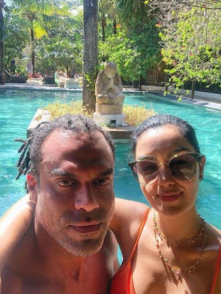 Alan Passos e a mulher Flávia Diniz - Reprodução/Instagram