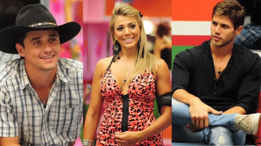 Fael, Fabiana e Jonas no BBB 12 - Reprodução/TV Globo
