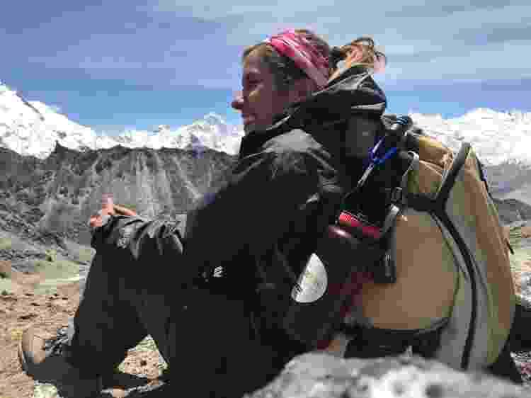 Mariela Vasconcelos e seu mochilão das trilhas - Arquivo pessoal - Arquivo pessoal
