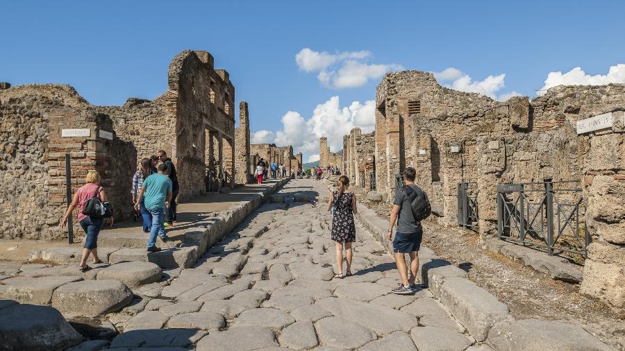 Parque arqueológico de Pompeia, ao sul da Itália - Maremagnum/Getty Images