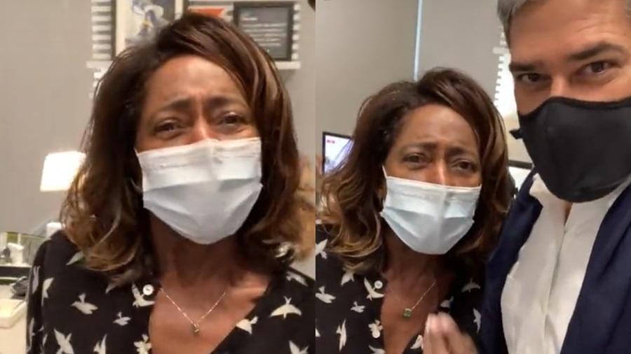 Gloria Maria voltou ao trabalho presencial após tomar as duas doses da vacina contra a covid-19 - Reprodução/Instagram