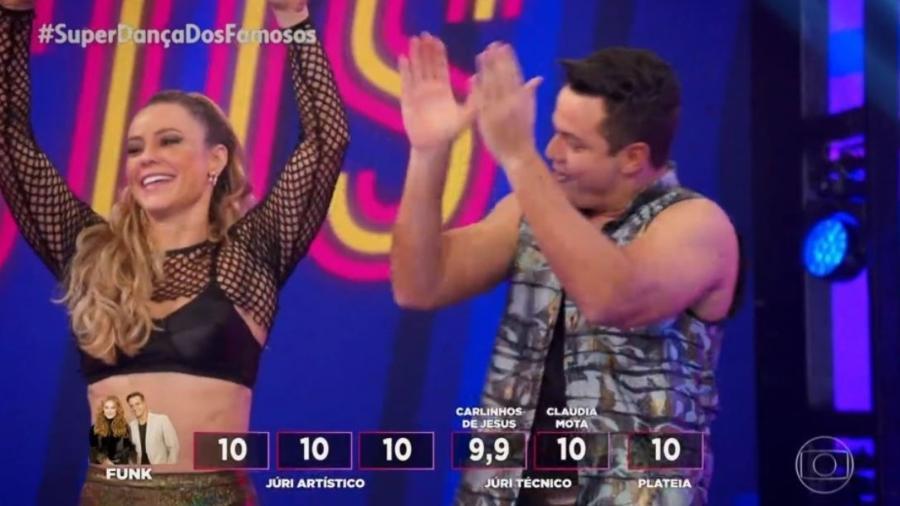 Paolla Oliveira chocou os jurados na Super Dança dos FAmosos - Reprodução/Globo