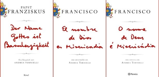 24.nov.2015 - Capa do primeiro livro do papa Francisco é divulgada pela editora italiana Piemme. O título será lançado no dia 12 de janeiro em 84 países e seis idiomas - AFP PHOTO / PIEMME PRESS OFFICE