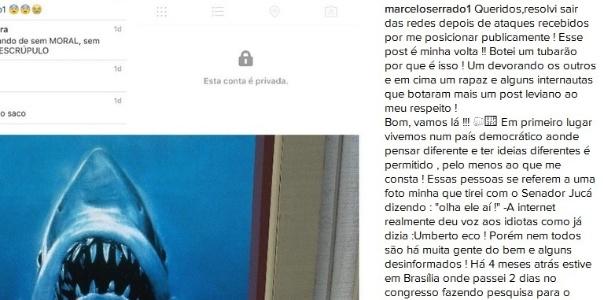 """Depois de ter recebido ataques políticos na internet Marcelo Serrado volta às redes e lembra que """"vivemos num país democrático"""" - Reprodução/Instagram/@marceloserrado1"""