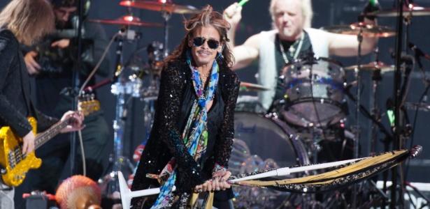 Steven Tyler se apresentou com o Aerosmith no último sábado