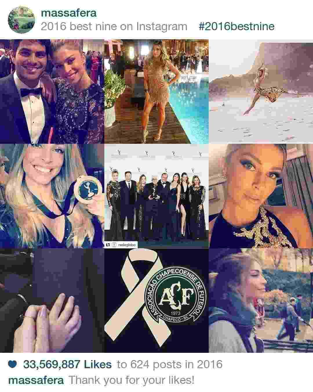 As fotos mais curtidas do Instagram de Grazi Massafera em 2016 - Reprodução/Instagram/2016bestnine