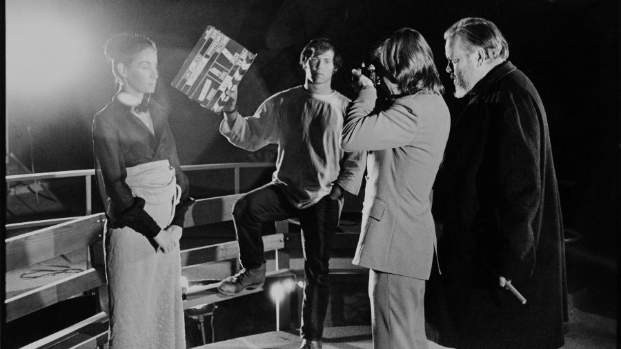 """Orson Welles acompanha gravação do filme """"The Other Side of the Wind"""" - Divulgação"""