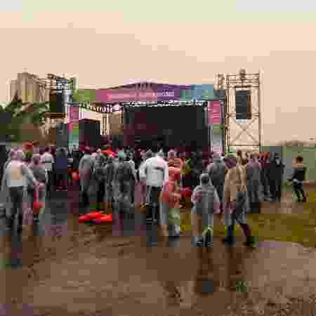 Sob chuva, MC Gui se apresenta para baixo público no palco da Virada Cultural em Interlagos - Flavio Moraes/UOL - Flavio Moraes/UOL