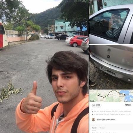 O ator Bruno Guedes registrou o momento que foi abandonado pelo motorista do Uber em uma comunidade carioca - Reprodução/Facebook