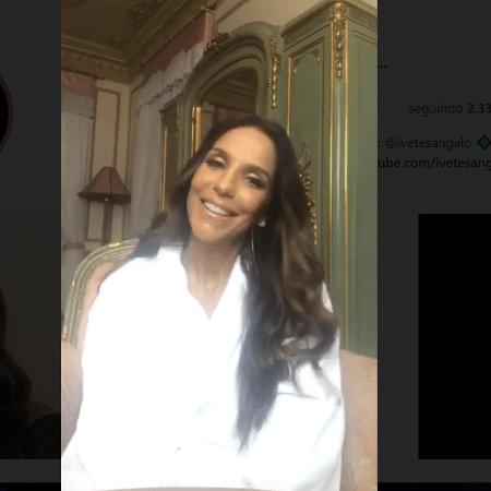 Ivete Sangalo avisa em seu Instagram que ficará fora do Carnaval 2018 - Reprodução/Instagram
