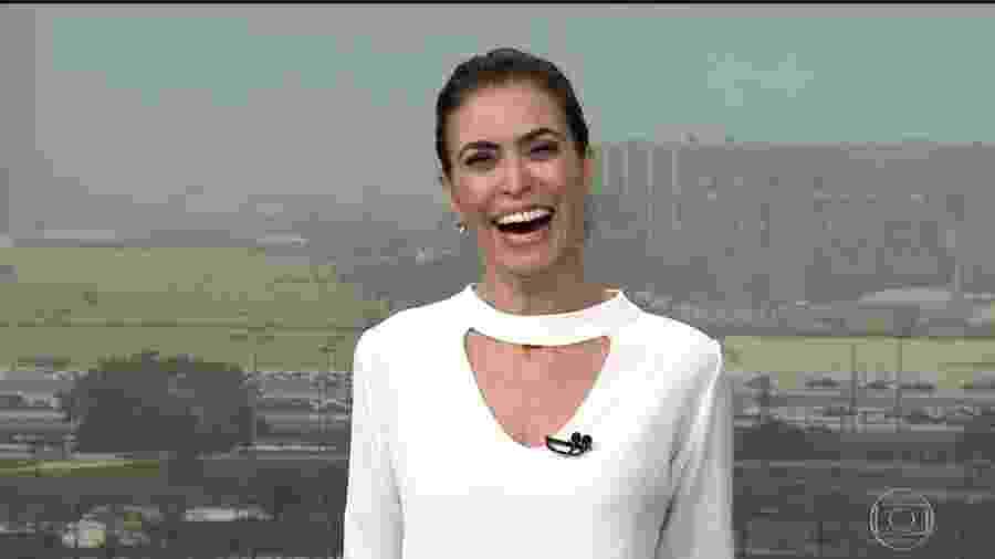 "Giuliana Morrone no ""Bom Dia Brasil"" - Reprodução/Globo"