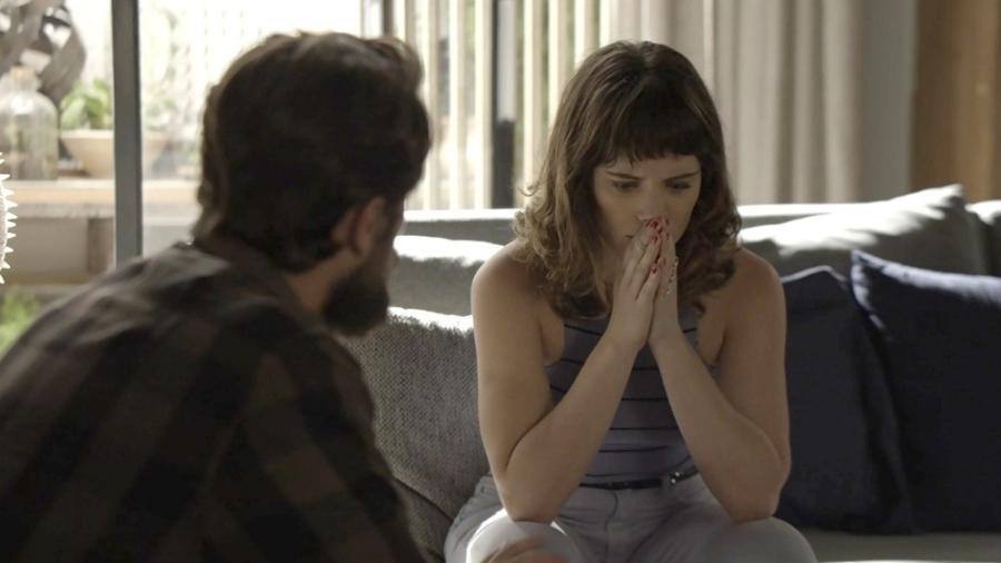 Clara se desespera com o atropelamento de Raquel - Reprodução/Gshow