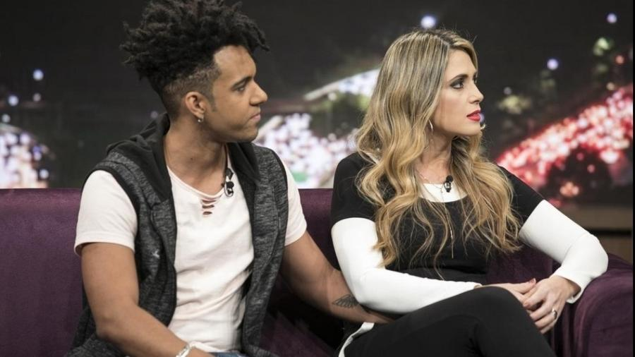 "Nadja Pessoa e Vinicius D""Black no ""Programa do Porchat"" - Antonio Chahestian/Record TV"