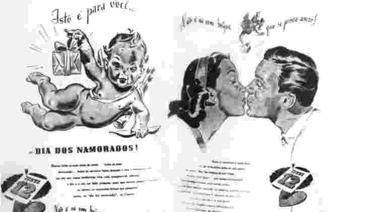 Slogan de propaganda do Dia dos Namorados criada por João Doria - Texto de João Dória e arte de Fritz Lessin - Texto de João Dória e arte de Fritz Lessin
