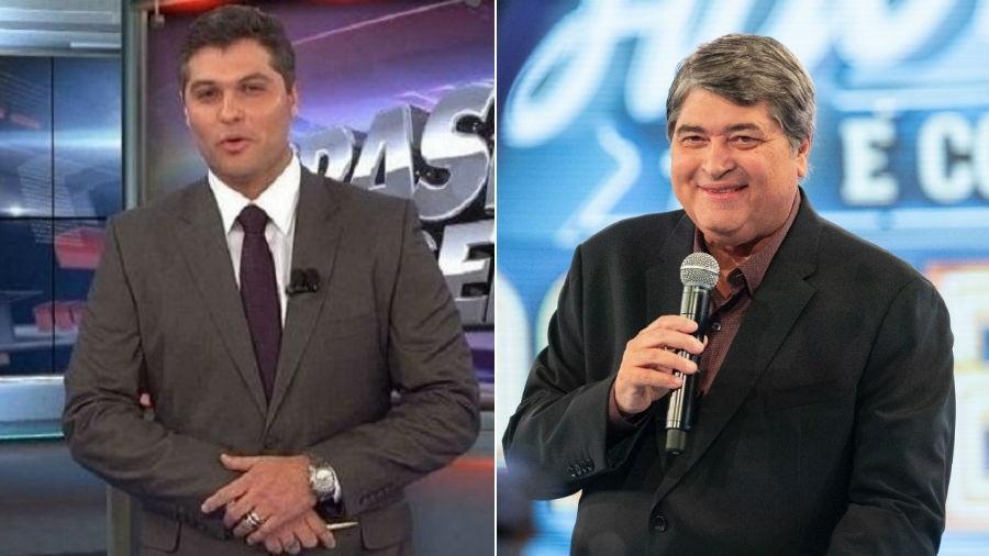 Joel Datena e o pai Datena serão divididos no trabalho na TV - Fotomontagem/Divulgação/Band